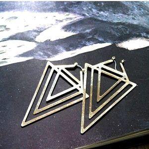 3/$35- Gold Fractal Geometric Earrings